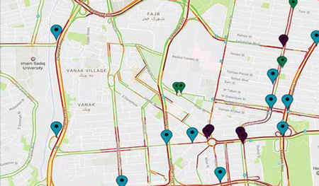 Sample media offer Pin-Map with Traffic-Map